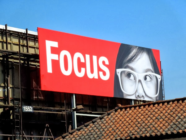 Focus glasses billboard Sunset Boulevard