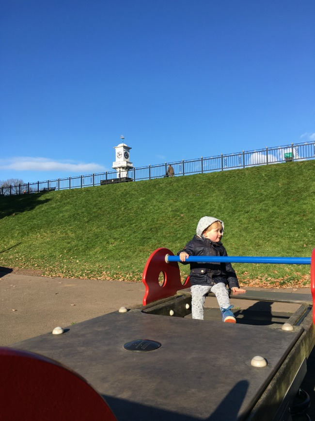 Painting-and-Playgrounds-toddler-in-Roath-park-playground