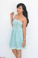Sahana New cute Telugu Actress in Sky Blue Small Sleeveless Dress ~  Exclusive Galleries 019.jpg