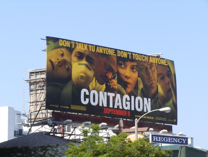 Contagion movie billboard