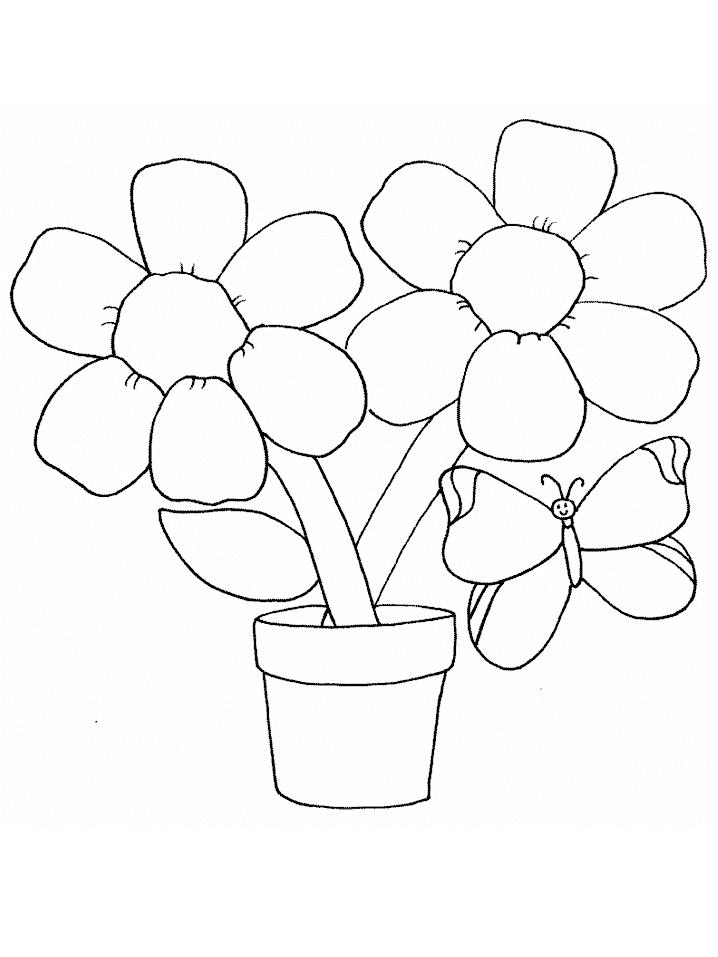 Gambar Bunga Untuk Mewarnai Anak Tk Gambar Bunga