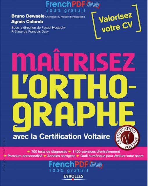 Mairtisez_l'orthographe_avec_la_certification_Voltaire PDF