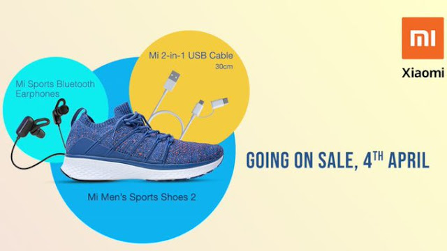 Mi Men's Sports Shoes 2, Mi Sports Bluetooth Earphones and Mi 2-in-1 USB cable available in India from April 4