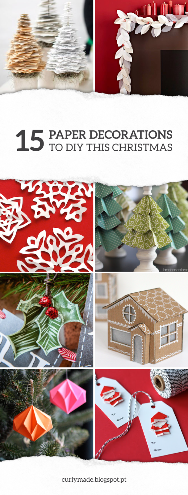 CurlyMade - 15 Paper Decorations to DIY this Christmas #holidays #crafts #decor