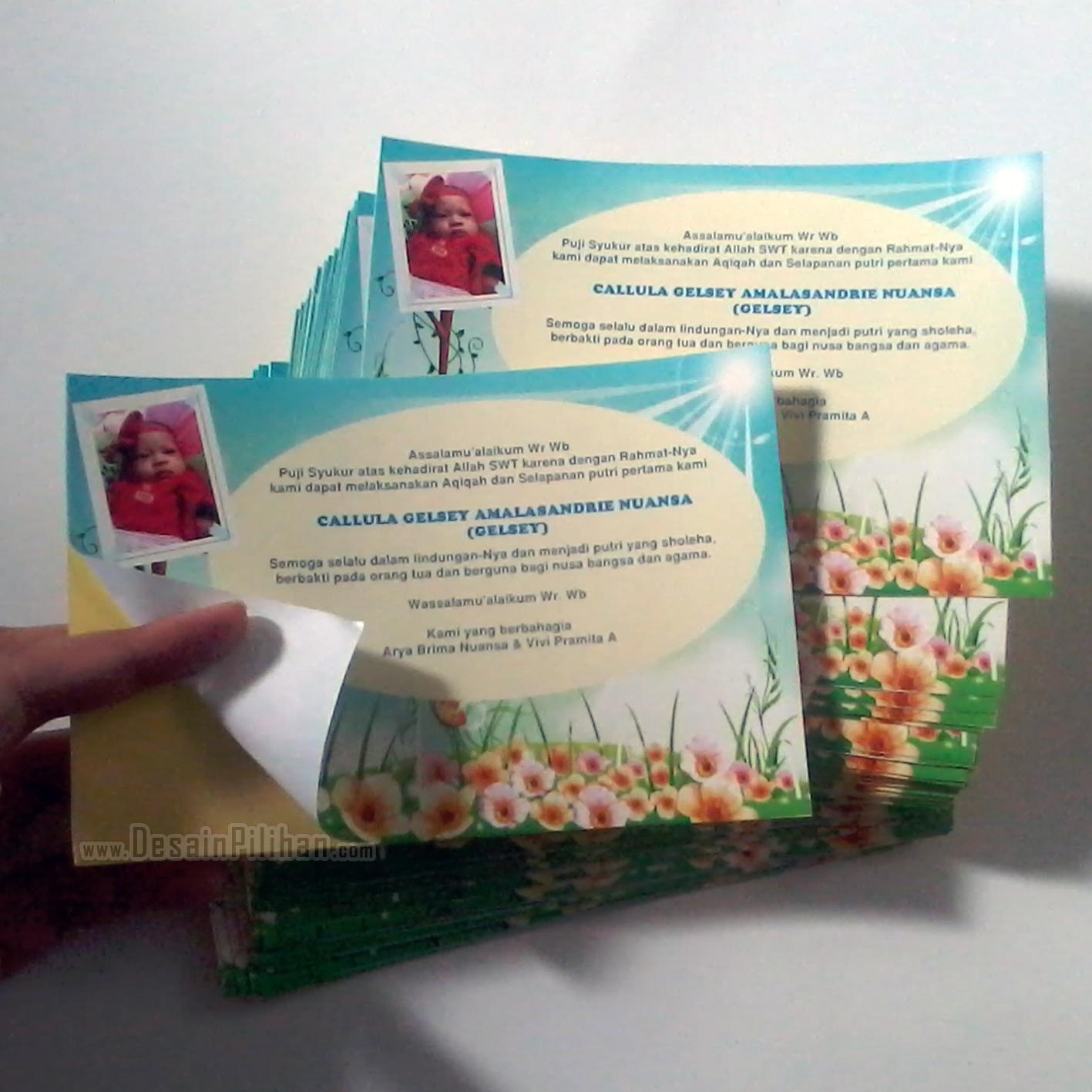 Sticker custom sticker kemasan stiker kardus syukuran aqiqah