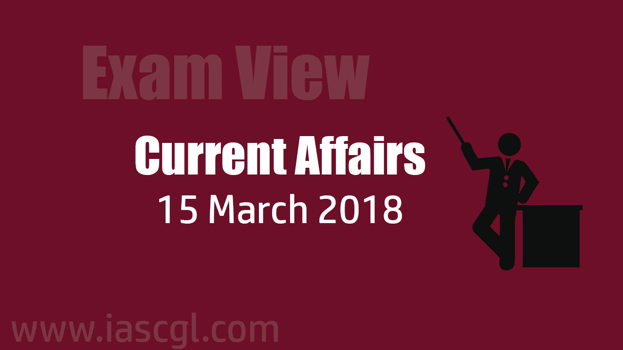 Current Affair 15 march 2018