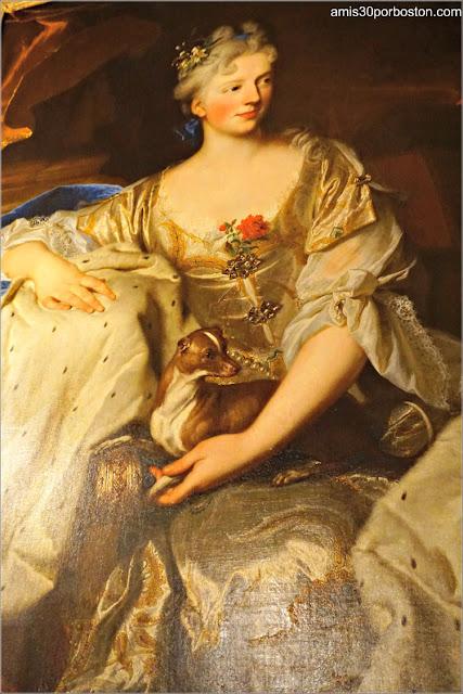 Cuadro de Hyacinthe Rigaud en el Salón Comedor de Marble House, Newport