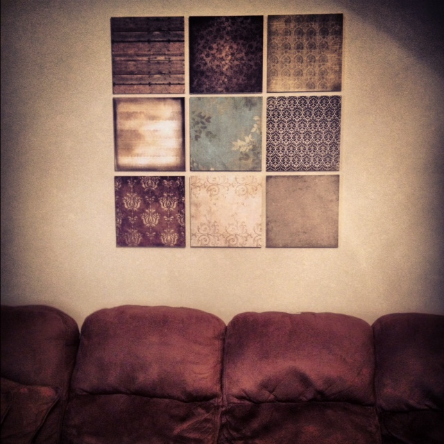 DO IT YOURSELF PROJECTS: DIY: Wall Decor Scrapbook Paper