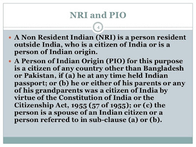 Difference between NRI and PIO citizen