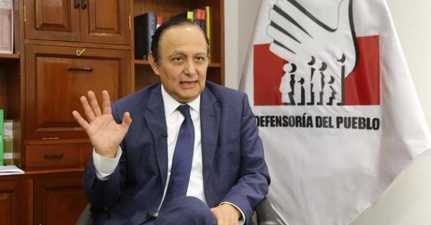 Nadie realmente demócrata puede rechazar el enfoque de género, sostiene el defensor del Pueblo, Walter Gutiérrez