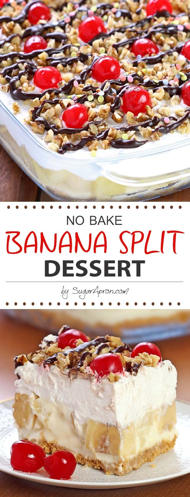 No Bake Banana Split Dessert Recipes