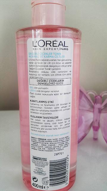 Loreal Paris Skın Expert  Değerli Çiçekler Tonik (Normal ve Karma Ciltler)