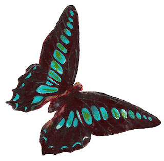 butterfly tattered wings clipart crafting download image