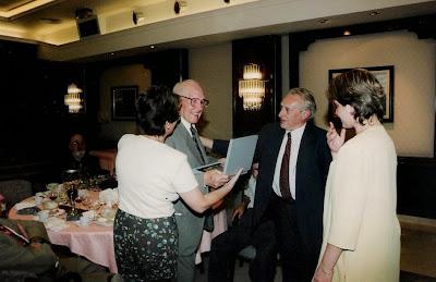 Homenaje a Àngel Ribera en septiembre de 1996 en Lloret de Mar