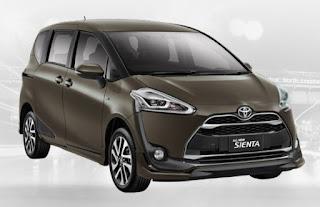 Harga Toyota Sienta di Pontianak Warna Quartz Brown
