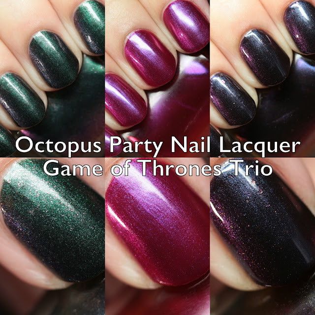 Octopus Party Nail Lacquer Game of Thrones Trio