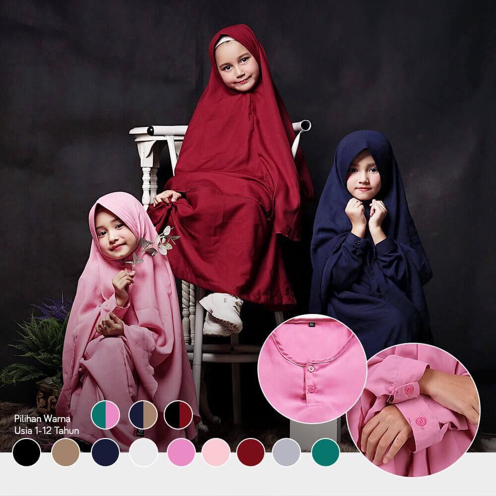 gamis anak best seller set syari dari Bajuyuli