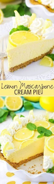 Lemon Mascarpone Cream Pie