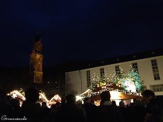 Heidelberg Universitätslatz Weihnachtsmarkt alemania