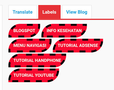cara membuat label kategori di blog