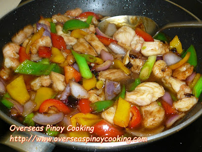 Fish and Shrimp with Black Beans Stirfry - Cooking Procedure