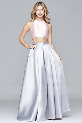prom dress silver pink