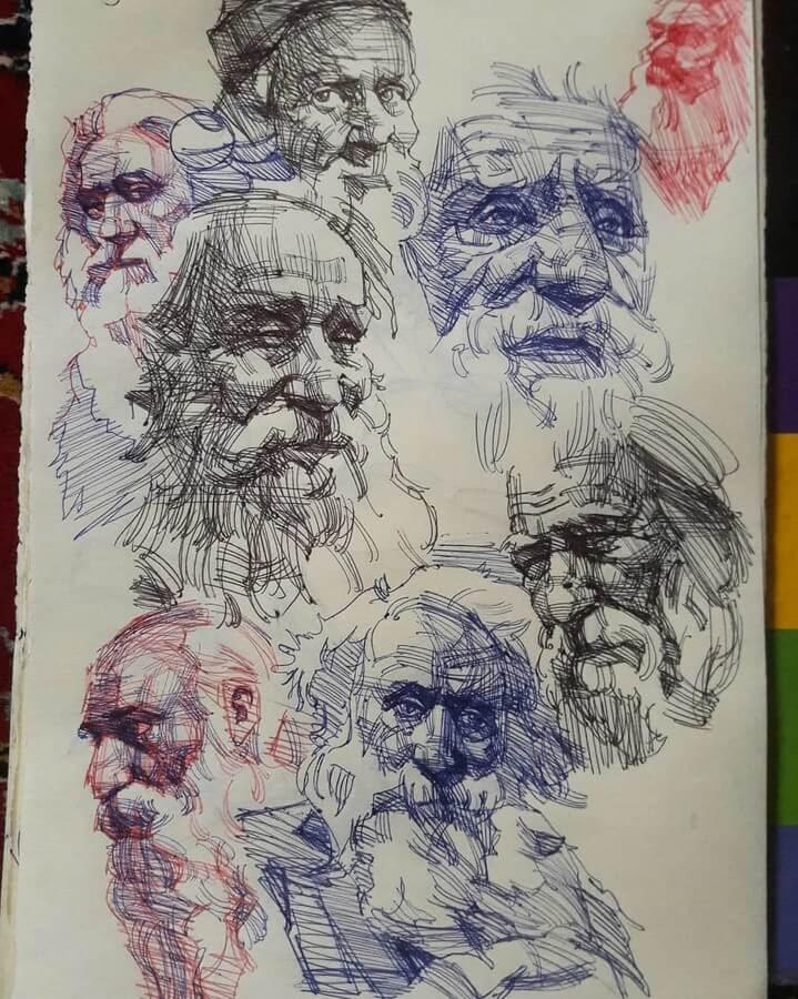 01-Ballpoint-Pen-Soroush-Jahdi-Sketch-Portraits-www-designstack-co