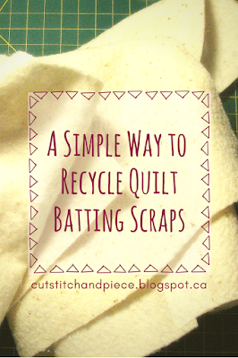 How to Recycle Batting Scraps
