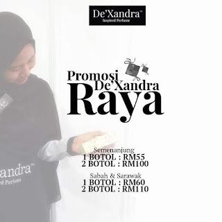 Jom borong perfume De'xandra dengan harga terhebat