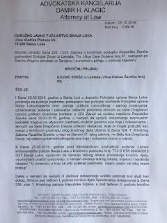 ZLOČINAC ZNAO I PRIJE PRES KONFERENCIJE MUP-A RS, 26.03.2018. DA JE DAVID UBIJEN I KO SU UBICE 8