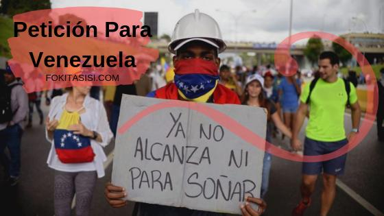(Imagen) Te contaré que pasa en Venezuela y la petición de enviar ayuda humanitaria para Venezuela