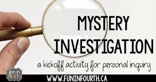 Mystery Investigation: A Kickoff to Personal Inquiry
