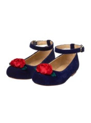 Velvet Rose Flat Shoes
