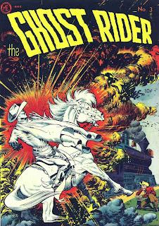 Ghost Rider v1 #3 comic book cover art by Frank Frazetta