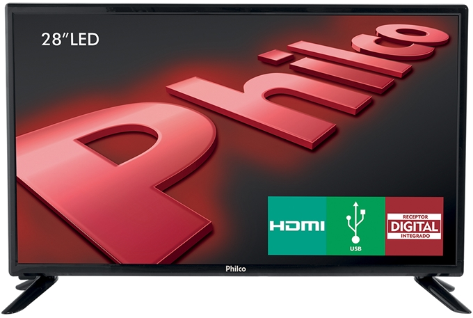TV LED 28 Polegadas Philco HD HDMI USB