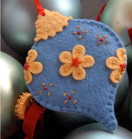 80 Ideas de enfeites de natal com feltro