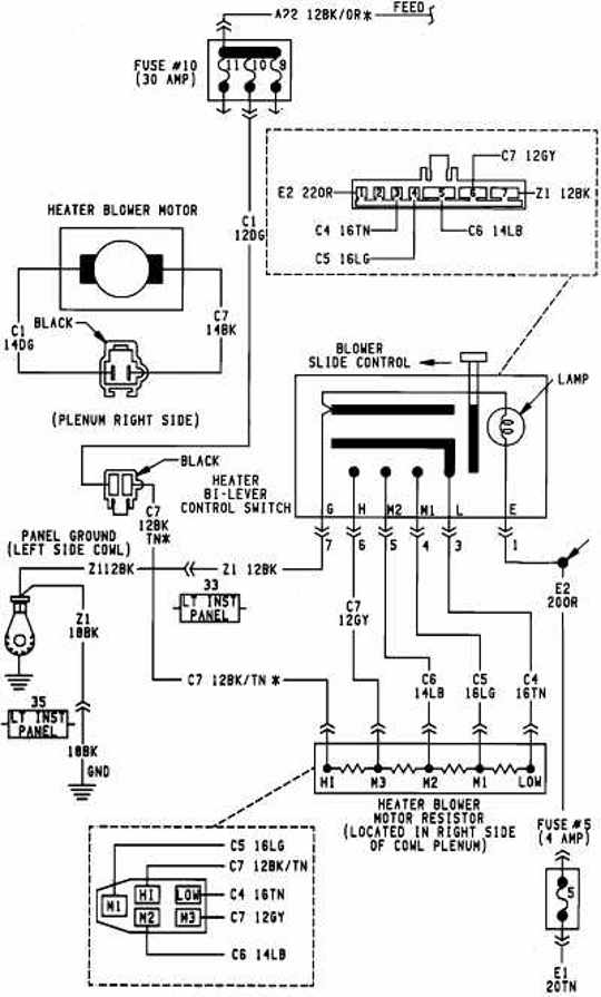 Dodge Caravan 1996 Blower Motor Schematic Wiring Diagram | All about Wiring Diagrams