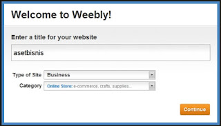 cara membuat website di weebly.