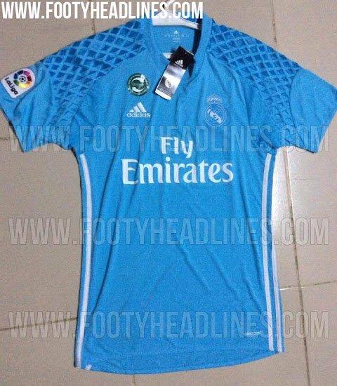 6ad3ad4d6a2c4 El portal  Footy Headlines  nos desvela cómo será la camiseta de porteros  del Real Madrid la próxima temporada