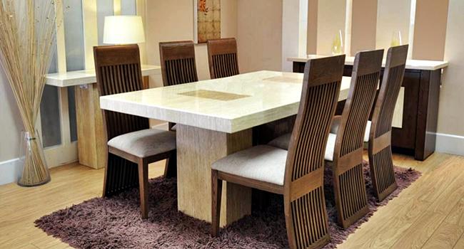 gambar desain meja makan minimalis modern mewah dan ekslusif
