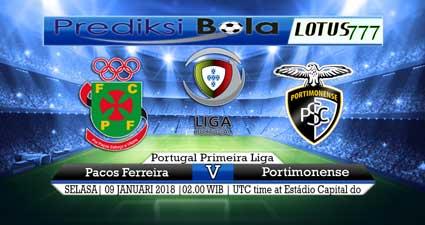 prediksi skor Pacos Ferreira vs Portimonense 09 januari 2018