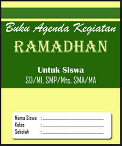 buku kegiatan ramadhan anak