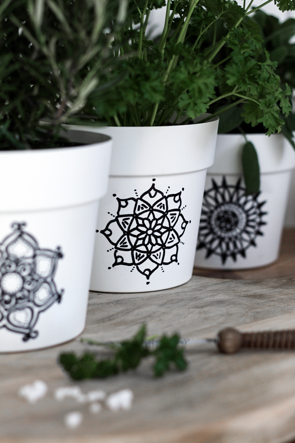 DIY Mandala Übertöpfe