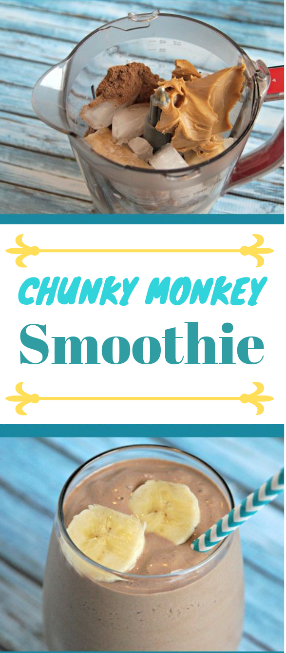 CHUNKY MONKEY SMOOTHIE RECIPE #drink #smoothie