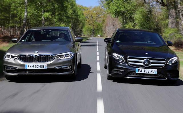 Mercedes-Benz Classe E 2018 x BMW Série 5 2018