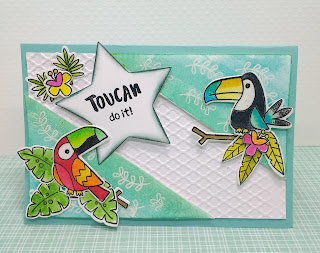Toucan do it !  a card by Diane Morales | Tucan Party Stamp Set | by Newtons Nook Designs
