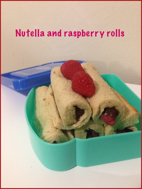 Nutella &  Raspberry Rolls