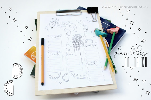2016 * Plan lekcji do wydrukowania