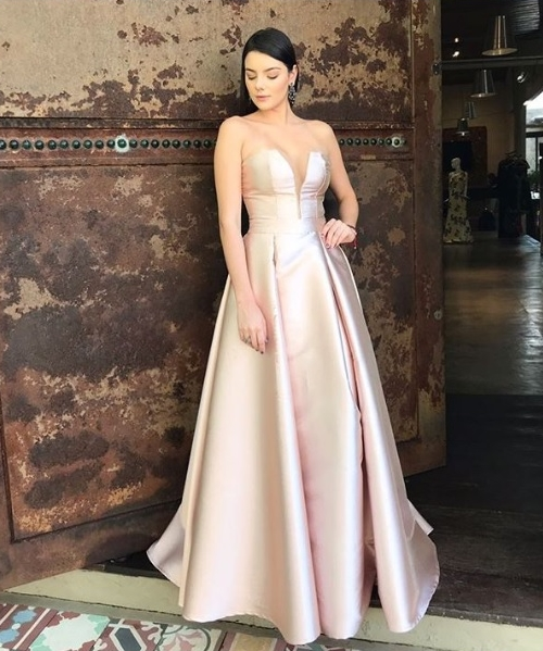 vestido rose longo princesa
