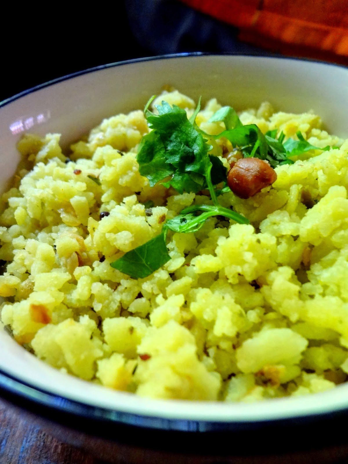no cook instant poha upma using home made poha mix